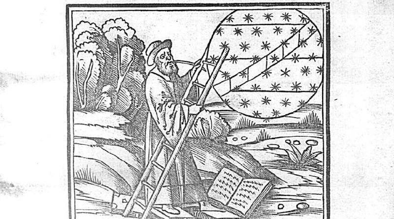 Титульный лист. Compilatio Leupoldi Ducatus [О. Ш. : компиляция Иоганна Сакробоско] austrie filis de astrorum scientia decem continentis tractatus. Pavia, 1513. Source : Gallica, Bibliothèque nationale de France.