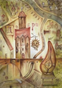 Dobro. The watercolor series Францискъ Скоринъ, 2017. Author: Eugene Ivanov