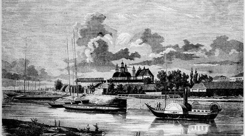 Pinsk view from the south. Widok na Pińska ze strony południowéj // Tygodnik Ilustrowany, 1863. № 197. С. 260