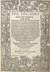 Титульный лист из книги Р. Идена «Десятилетия»