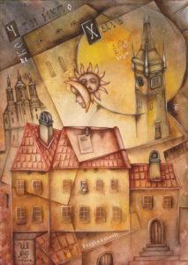 Vedi. The watercolor series Францискъ Скоринъ, 2017. Author: Eugene Ivanov