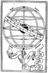 Armillary sphere. Joannes de Sacro Bosco, 1482. Sphaera mundi. Venetiis: Erhardi Ratdolt, 1482. Gallica, Bibliothèque nationale de France.