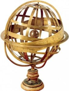 Армиллярная сфера. Модель К. Вопелиуса (Caspar Vopelius). Cologne, 1542. Science Museum, Blythe House. № 1880-48.