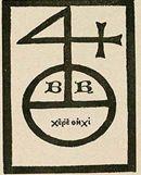 Издательский знак (марка «4») Бертольда Рамбольта [33, р.956].