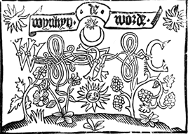 «Солнце и месяц». Издательский знак В. Де Ворд [15, р. 65].