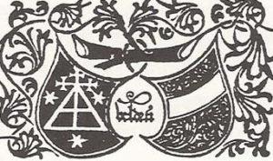 Издательский герб Й. Велденера (слева) [8, колофон]