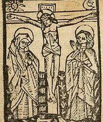 Распятие Христа, Говарт ван Гемен «Молитвенник» [19, f.28 recto].