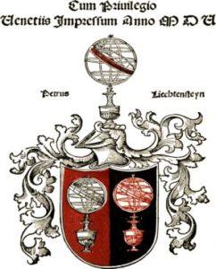Издательский знак Петра Лихтенштейна [32, f. 152 verso].